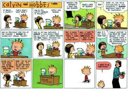 Viñeta Calvin & Hobbes sobre subvenciones