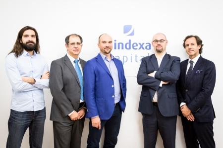 Equipo Indexa: Alejandro D. Caneda, Carlos González Serna, François Derbaix, Unai Ansejo y Ramón Blanco